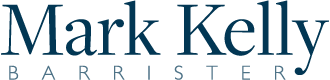 Mark kelly barrister logo